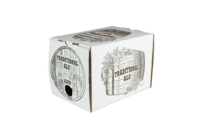 5 litre printed ale box